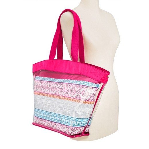 Women's Mossimo Supply Co Jelly Beach Tote with Nylon Pouch ...