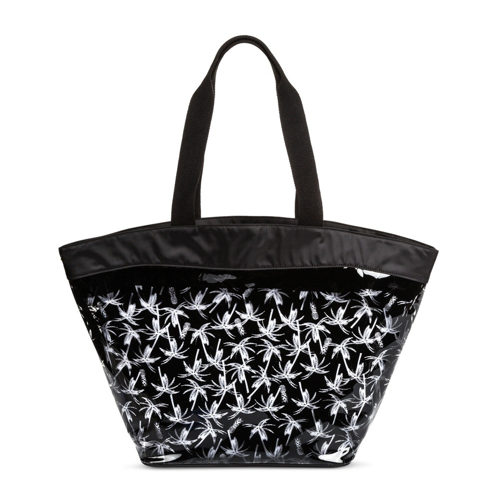 Womens Jelly Beach Tote with Nylon Pouch - Mossimo Supply Co. Black