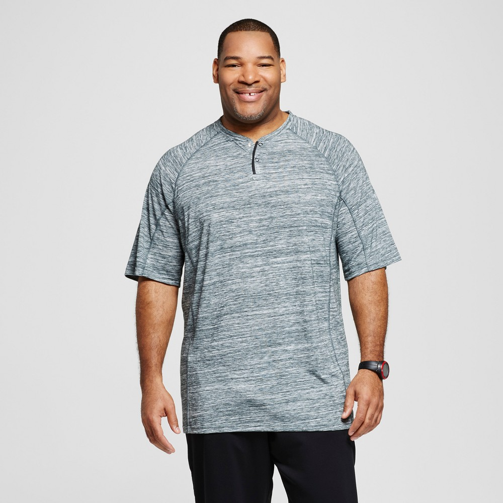 Mens Big & Tall Henley T-Shirt - C9 Champion - Forest Grove Heather Xlt