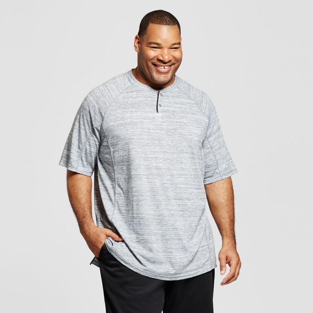 Mens Big & Tall Henley T-Shirt - C9 Champion Thundering Gray Heather 3XBT