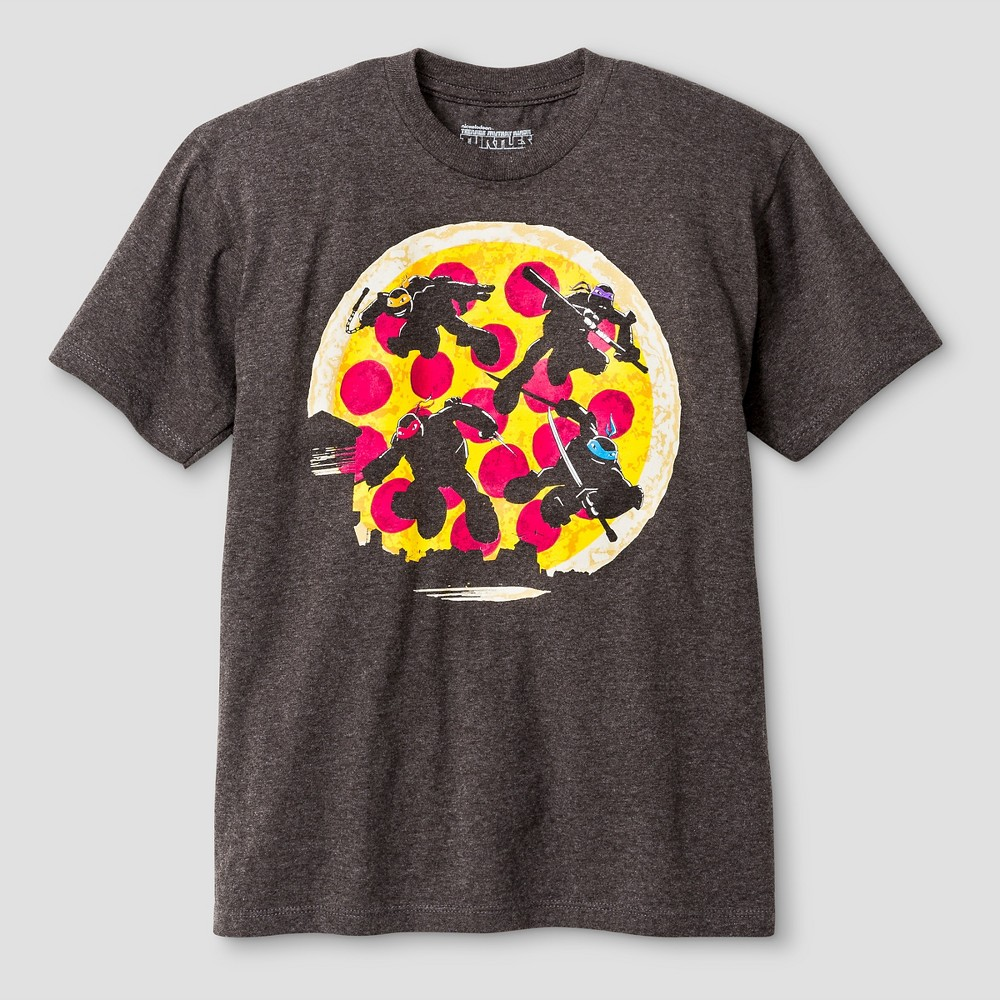 Boys Teenage Mutant Ninja Turtles T-Shirt Charcoal Heather - XL, Gray