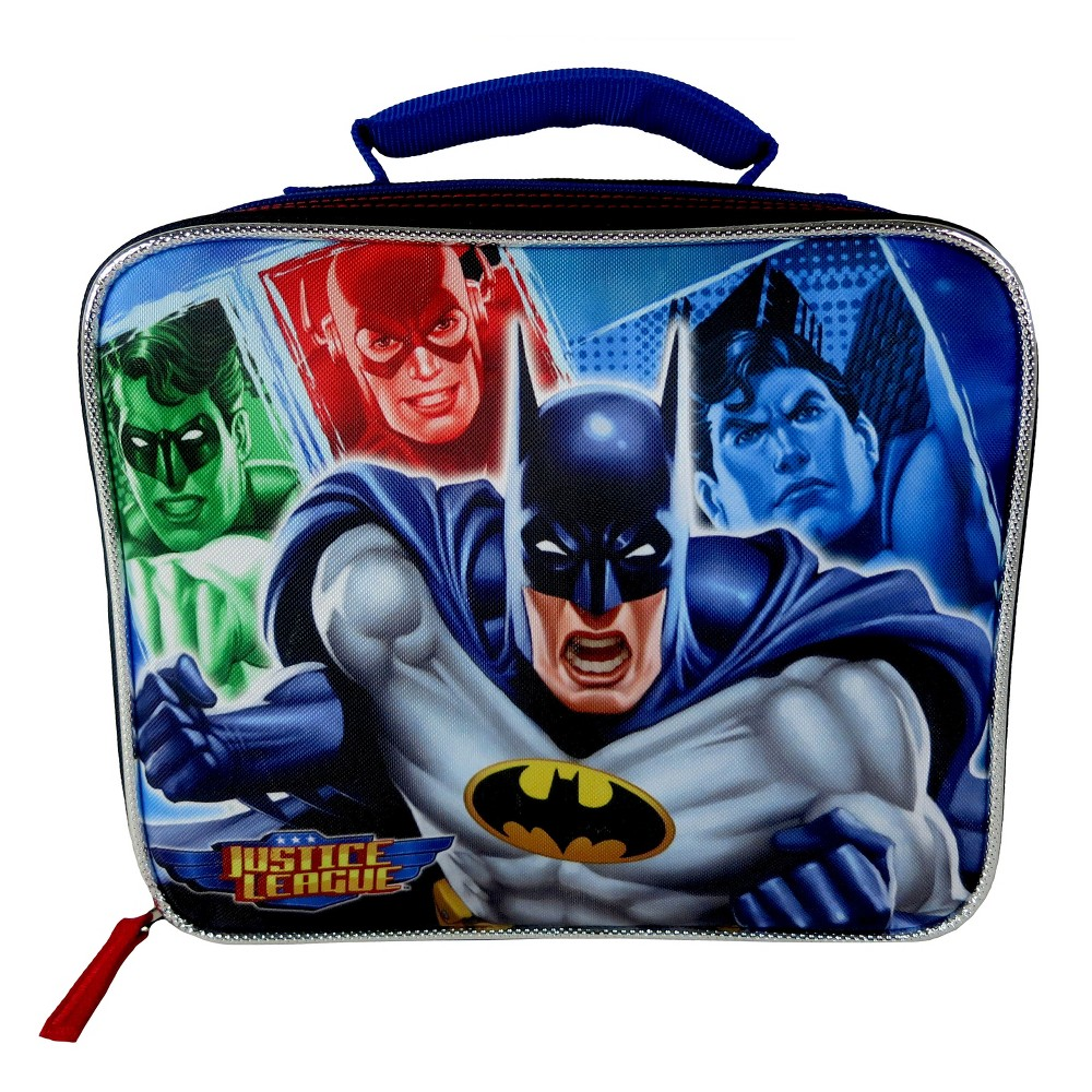 Justice League 7.5 Rectangular Lunch Bag, Black