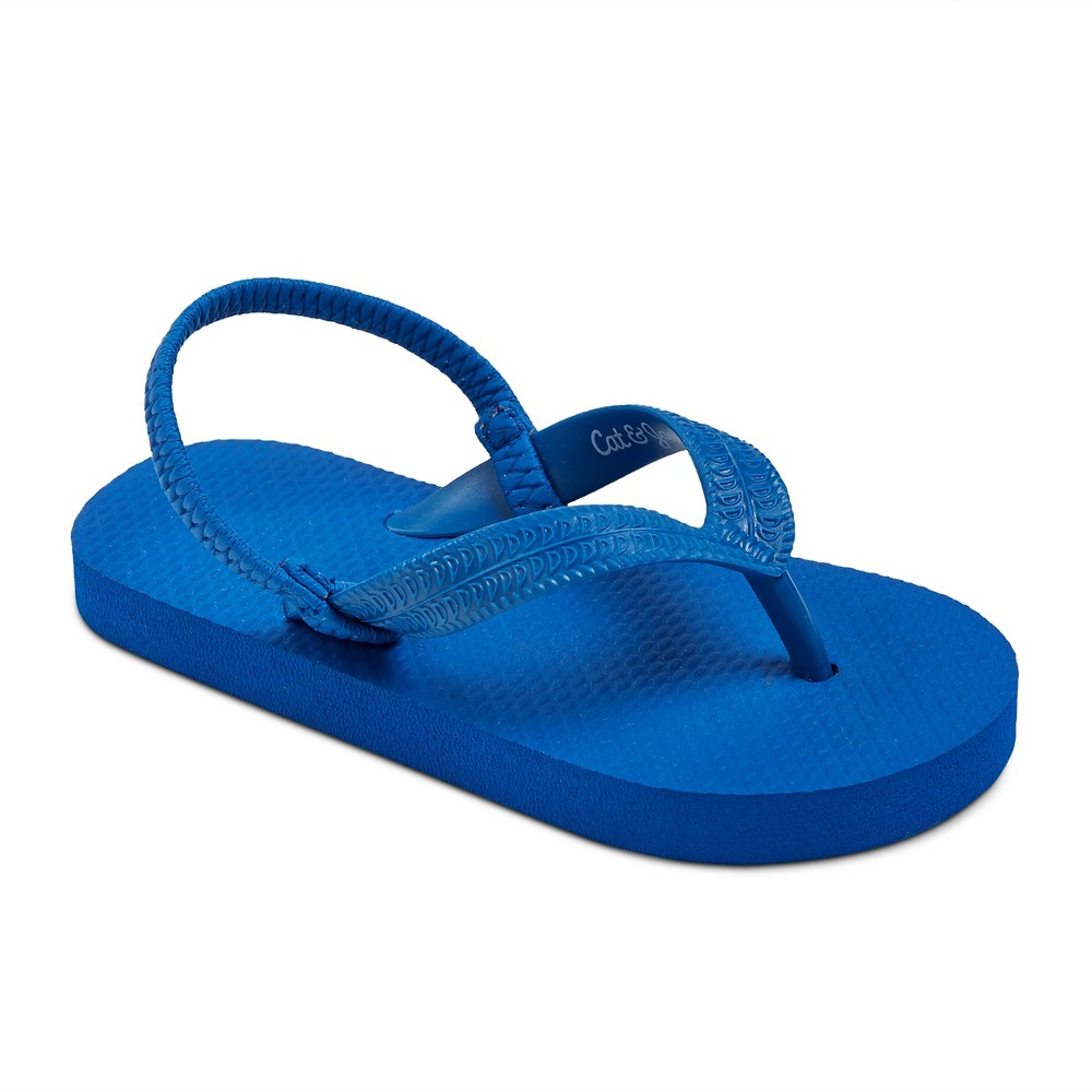 Toddler Boys Dax Flip Flop Sandals Cat & Jack - Blue XL