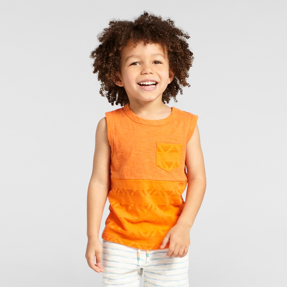 Toddler Boys Tank Top Cat & Jack Orange Flash 3T