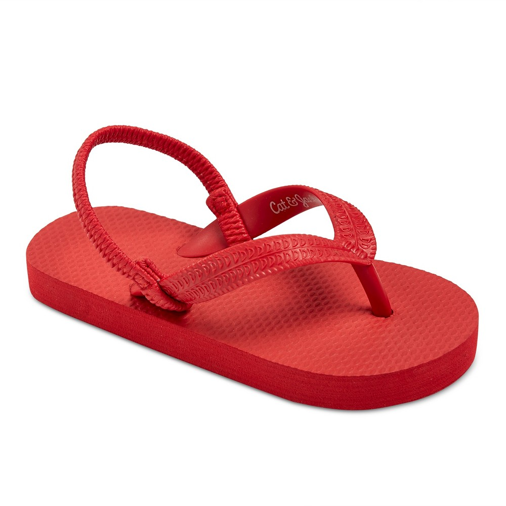 Toddler Boys Dax Flip Flop Sandals Cat & Jack - Red L