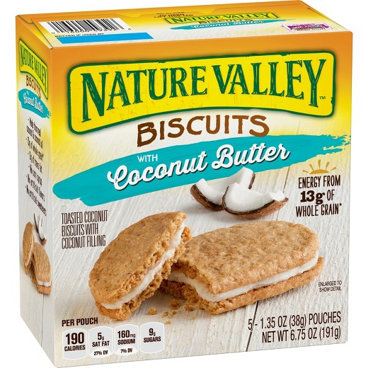 nature valley coconut butter biscuits