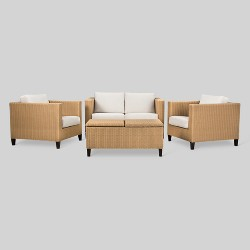 Fullerton 4-Piece Wicker Patio Furniture Set - Project 62™