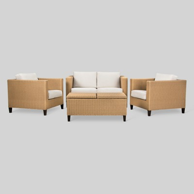 Fullerton 4 Piece Wicker Patio Furniture Set   Project 62™