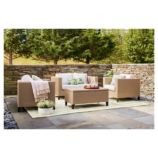Fullerton Piece Wicker Patio Furniture Set Project Target - Wicker patio furniture sets