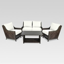 Fabron 4-Piece Wicker Patio Conversation Set - Threshold™