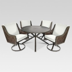 Fabron 5-Piece Wicker Patio Dining Set - Threshold™