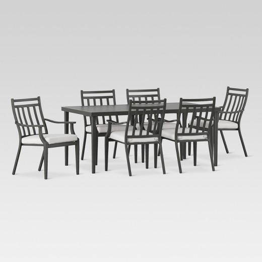 Fairmont Steel 7 Piece Patio Dining Set