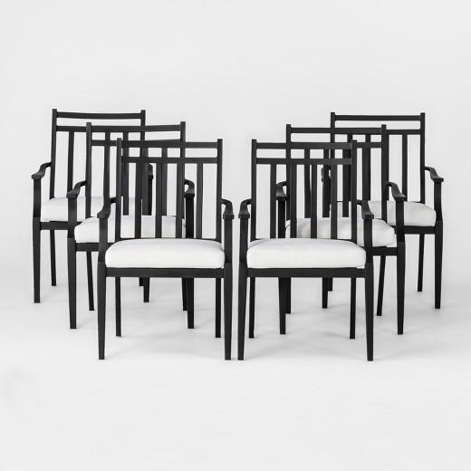 Fairmont Steel 6pc Patio Dining Chairs Threshold Tar