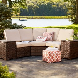 Halsted Wicker Patio Armless Sectional Seat - Threshold™