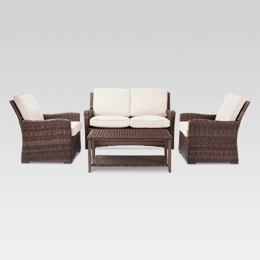 Halsted Piece Wicker Patio Furniture Set Threshold Target - Wicker patio furniture sets