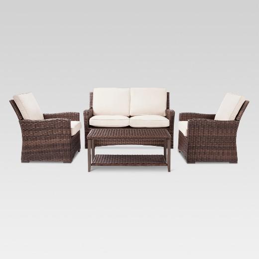 Halsted Piece Wicker Patio Furniture Set Threshold Target - Wicker patio furniture sets