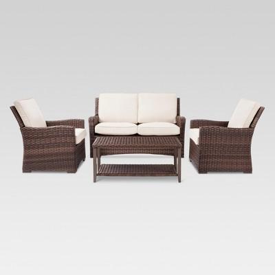 Halsted 4 Piece Wicker Patio Furniture Set   Threshold™ Part 39