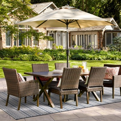 halsted 7piece wicker patio dining set threshold target
