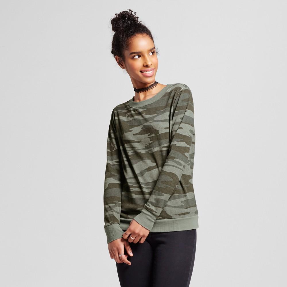 Women's Washed Crewneck Pullover Sweatshirt Green XL – Miss Chievous (Juniors')