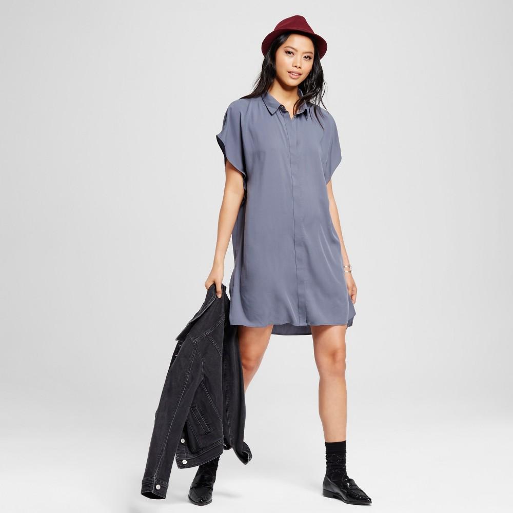 Women's Hidden Placket Dress Blue M – K by Kersh