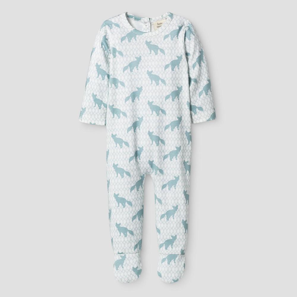 Kate Quinn Organics Baby Boys Bum Flap Footie Jumpsuit - Blue 3-6M, Size: 3-6 M