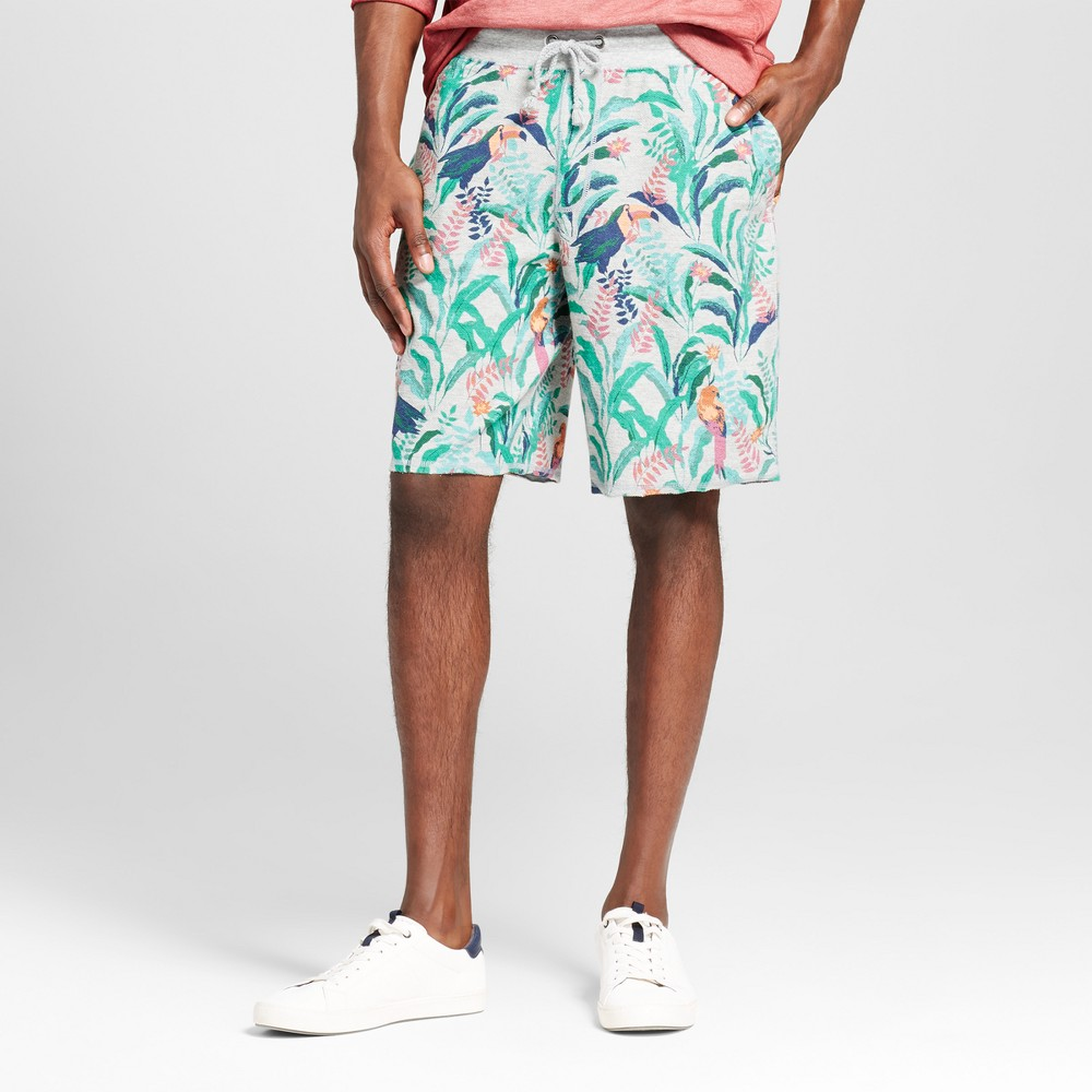 Mens Athleisure Floral Shorts - Mossimo Supply Co. Green L