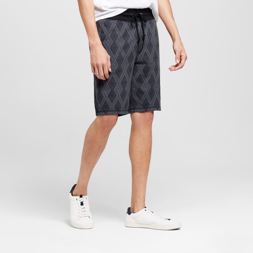 Mens Diamond Pattern Knit Shorts - Mossimo Supply Co. Black XL