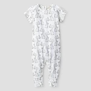 Kate Quinn Organics Baby Short Sleeve Sport Jumpsuit - Grey 6-9M, Infant Boy