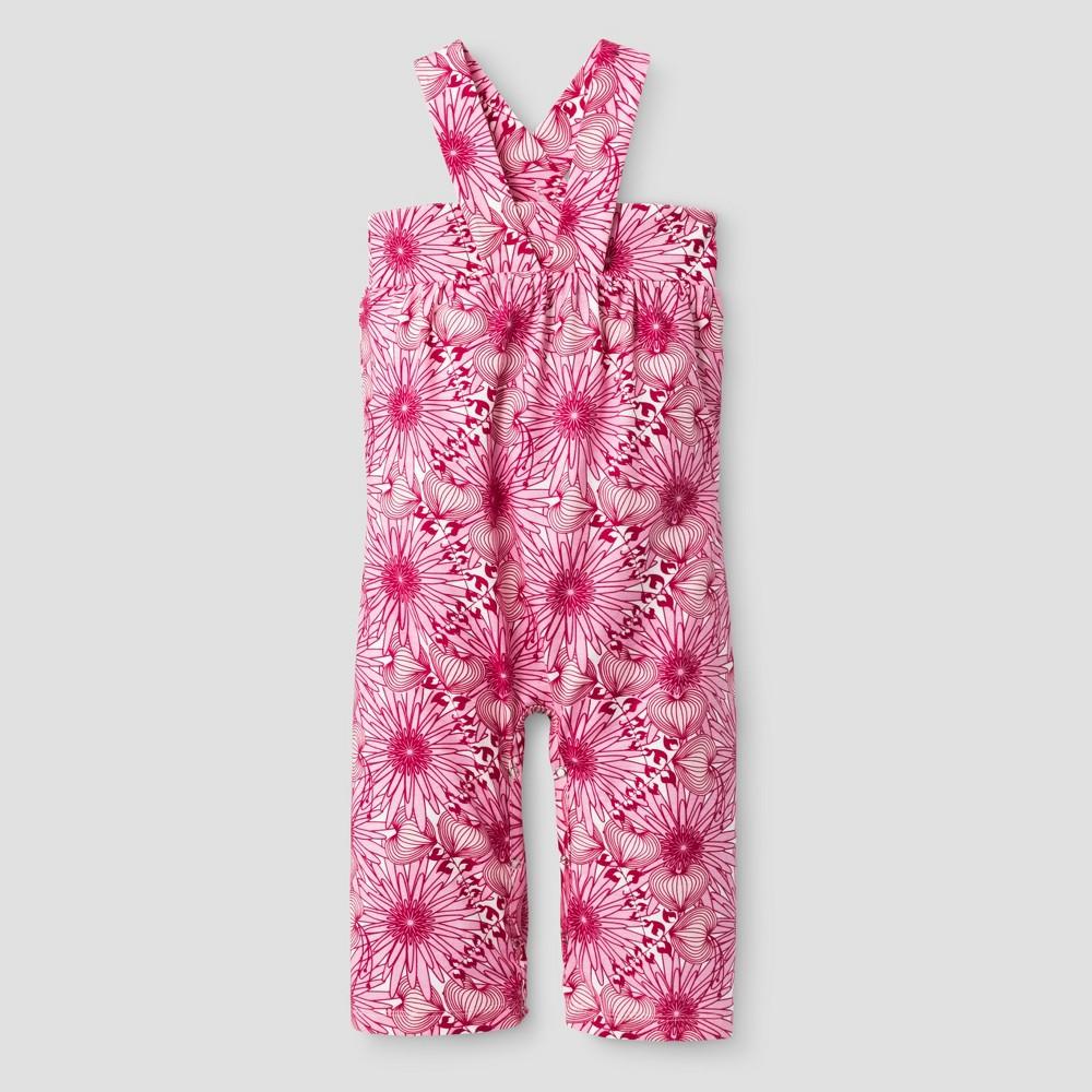Kate Quinn Organics Baby Girls Gaucho Jumpsuit - Pink 12M, Size: 12 M