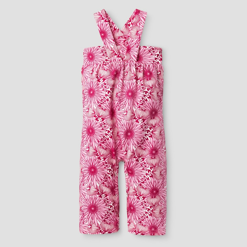 Kate Quinn Organics Baby Girls Gaucho Jumpsuit - Pink 3-6M, Size: 3-6 M