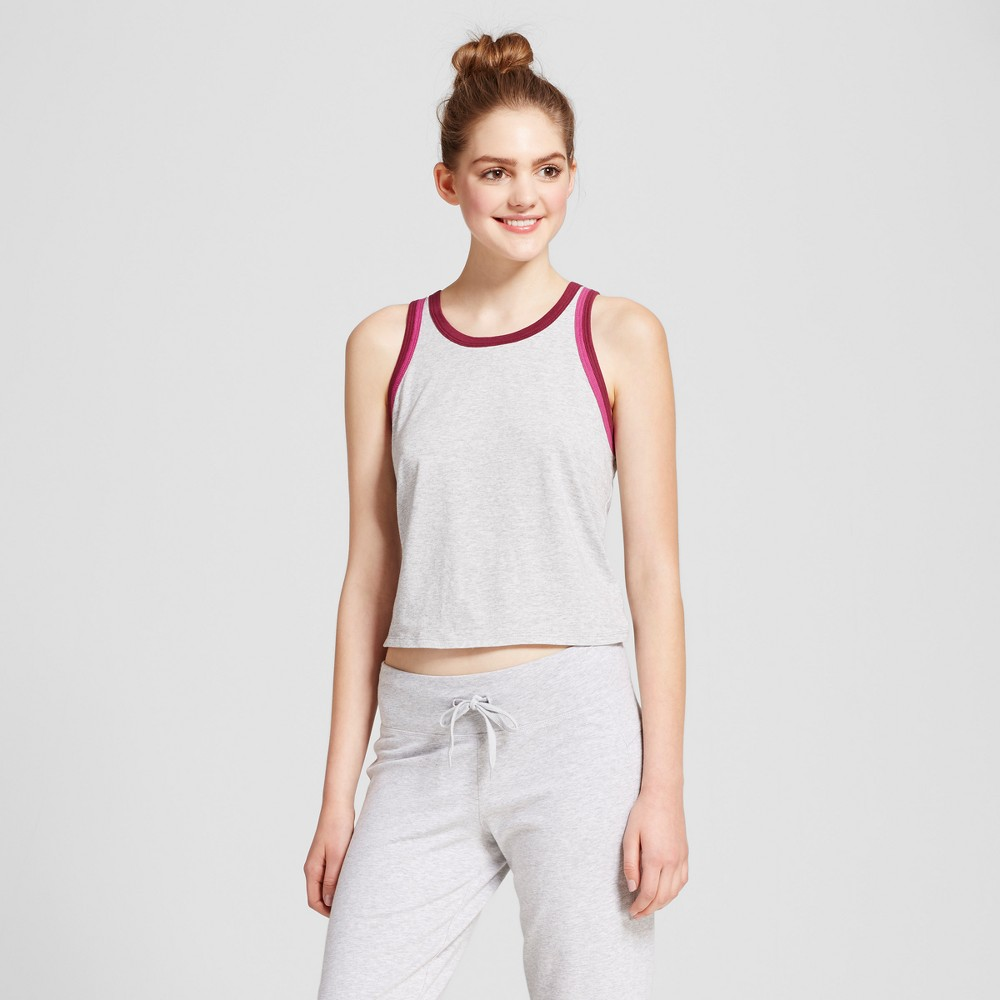 Womens Leisure Tank Top - Mossimo Supply Co. Gray/Black Cherry XS