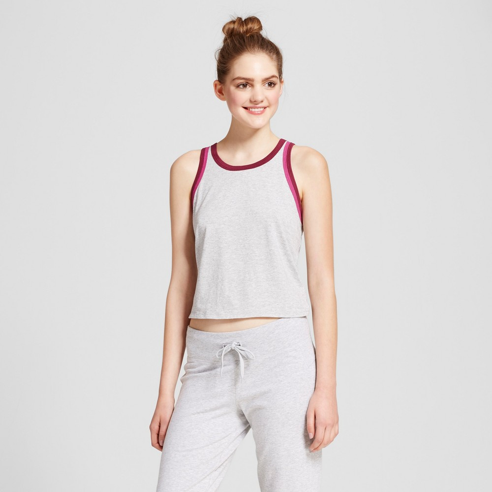 Womens Leisure Tank Top - Mossimo Supply Co. Gray/Black Cherry S