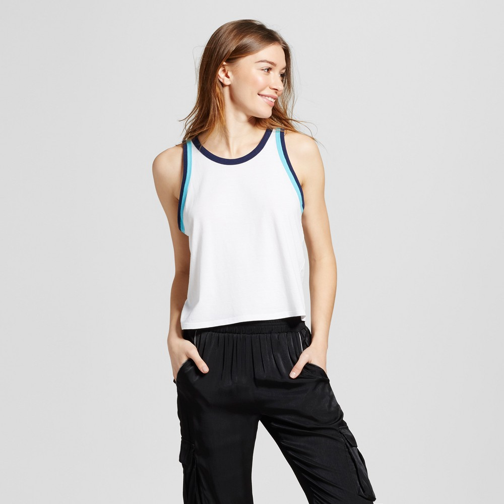 Womens Leisure Tank Top - Mossimo Supply Co. White/Navy (White/Blue) M