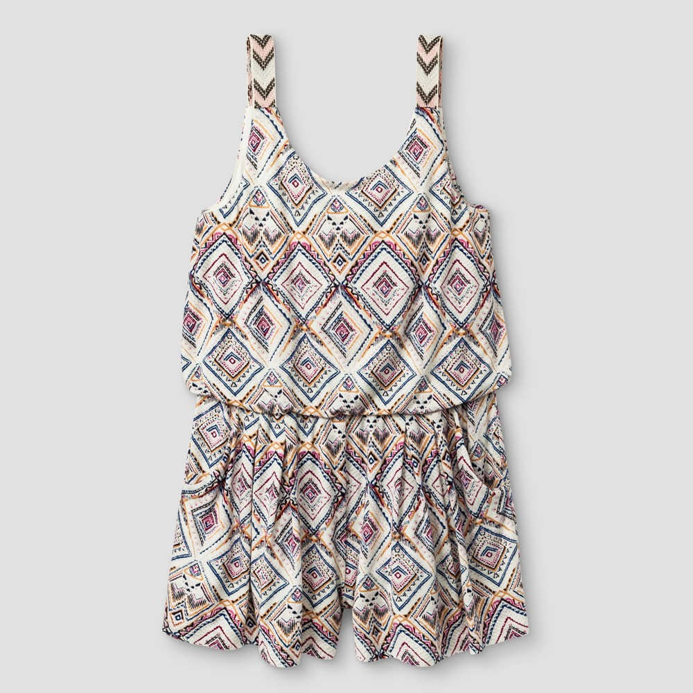 Girls' Knit Rompers - Art Class White S