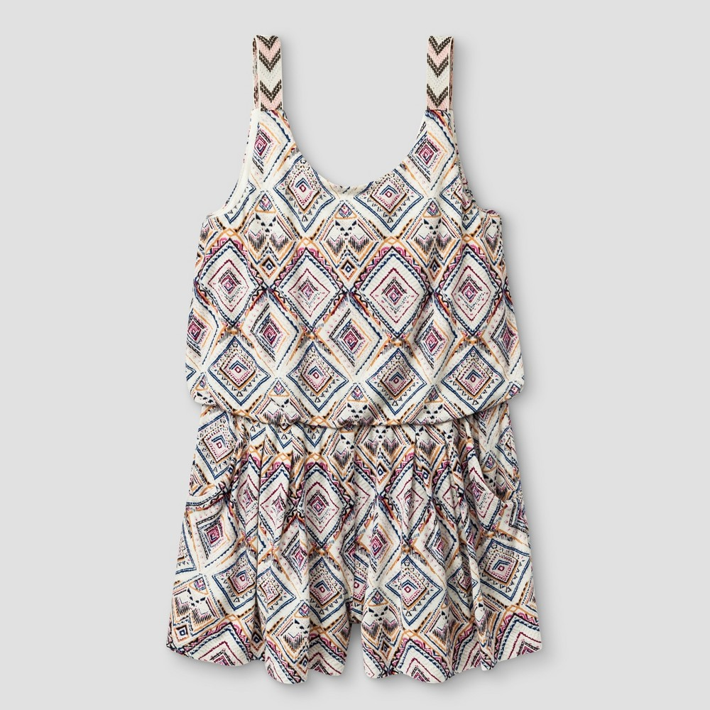 Girls Knit Rompers - Art Class White M