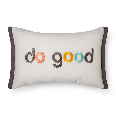 Cream Do Good Throw Pillow (12 x18 )- Room Essentials™