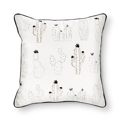 Cream Cactus Print Throw Pillow (18 x18 )- Room Essentials™