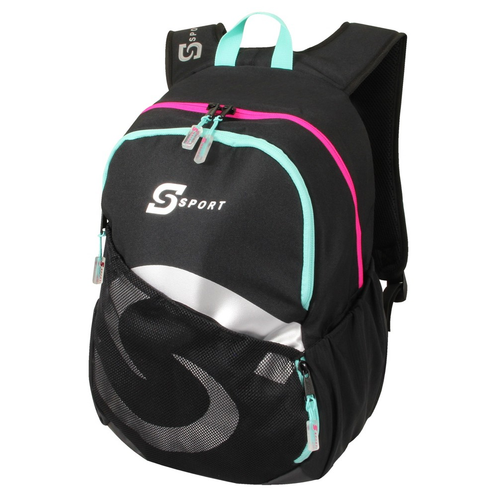 S-Sport Girls Backpack - Black, Blue