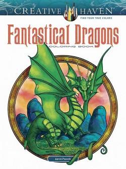 Creative Haven Fantastical Dragons Coloring Book (Paperback) (Aaron Pocock)