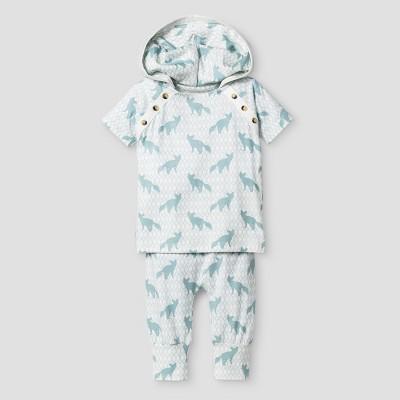 Kate Quinn Organics Baby Boys' 2-Piece Hoodie & Jogger Set - Blue 3-6M