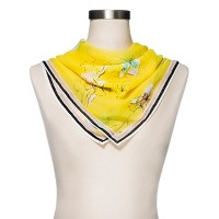 Women's Floral Print Scarf - Merona - Yellow. opens in a new tab.