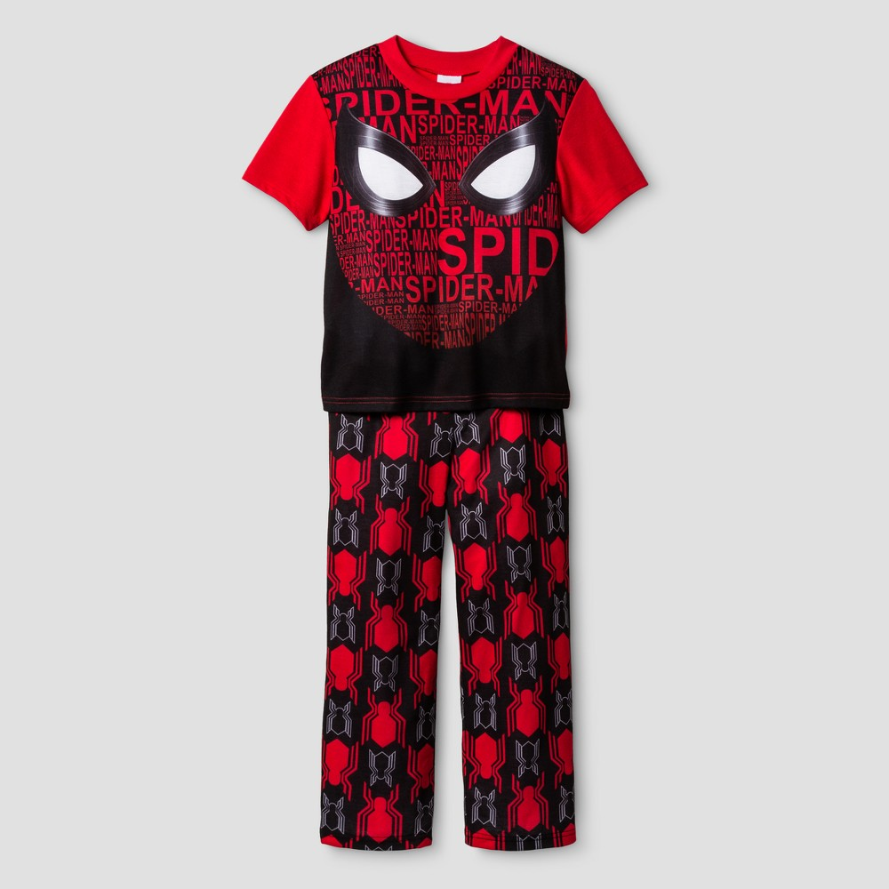Boys Spider-Man Pajama Set- Red L