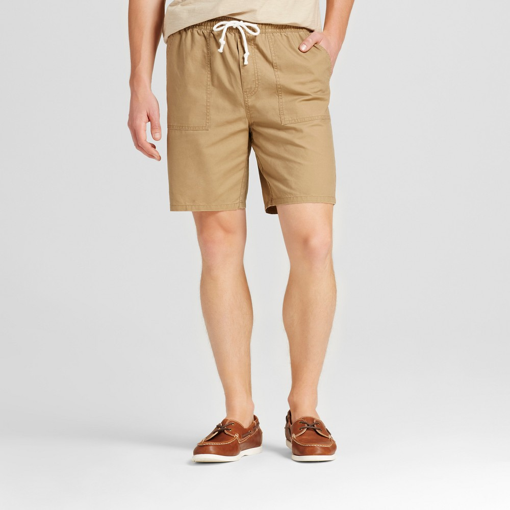 Mens Elastic Waist Jogger Shorts - Merona Brown S