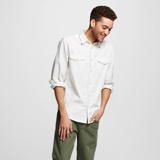 Men's Long Sleeve Button Down Denim Shirt - Mossimo Supply Co ...