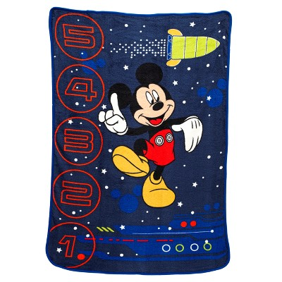 Mickey Mouse® Navy Blanket (Toddler)