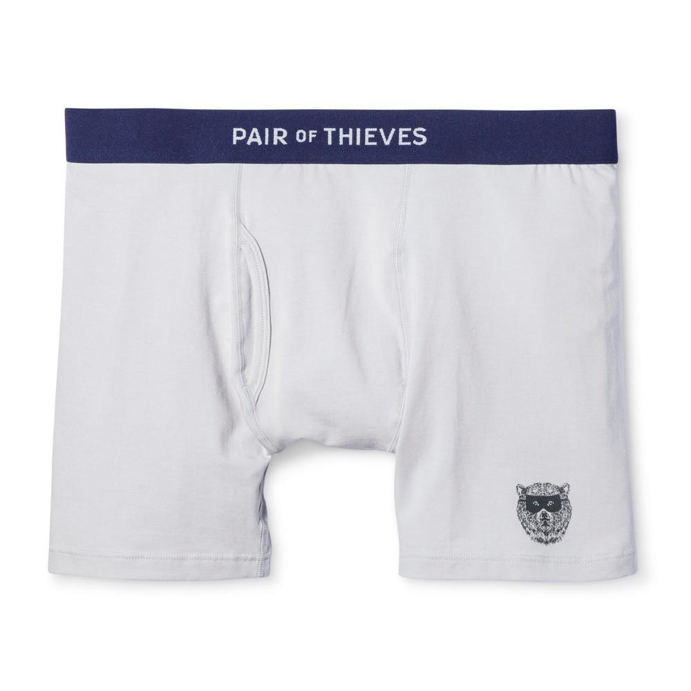 Men's Pair of Thieves Super Soft Solid Grey Boxer 1pk Brief S – Underwear, Gray