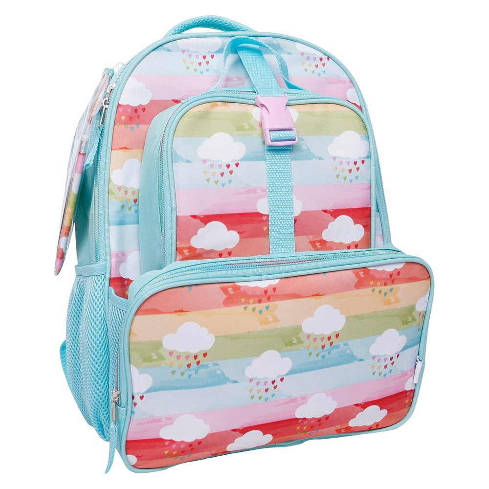 Crckt 16 Kids Backpack & Lunch Kit Combo Set - Rainbow, Turquoise