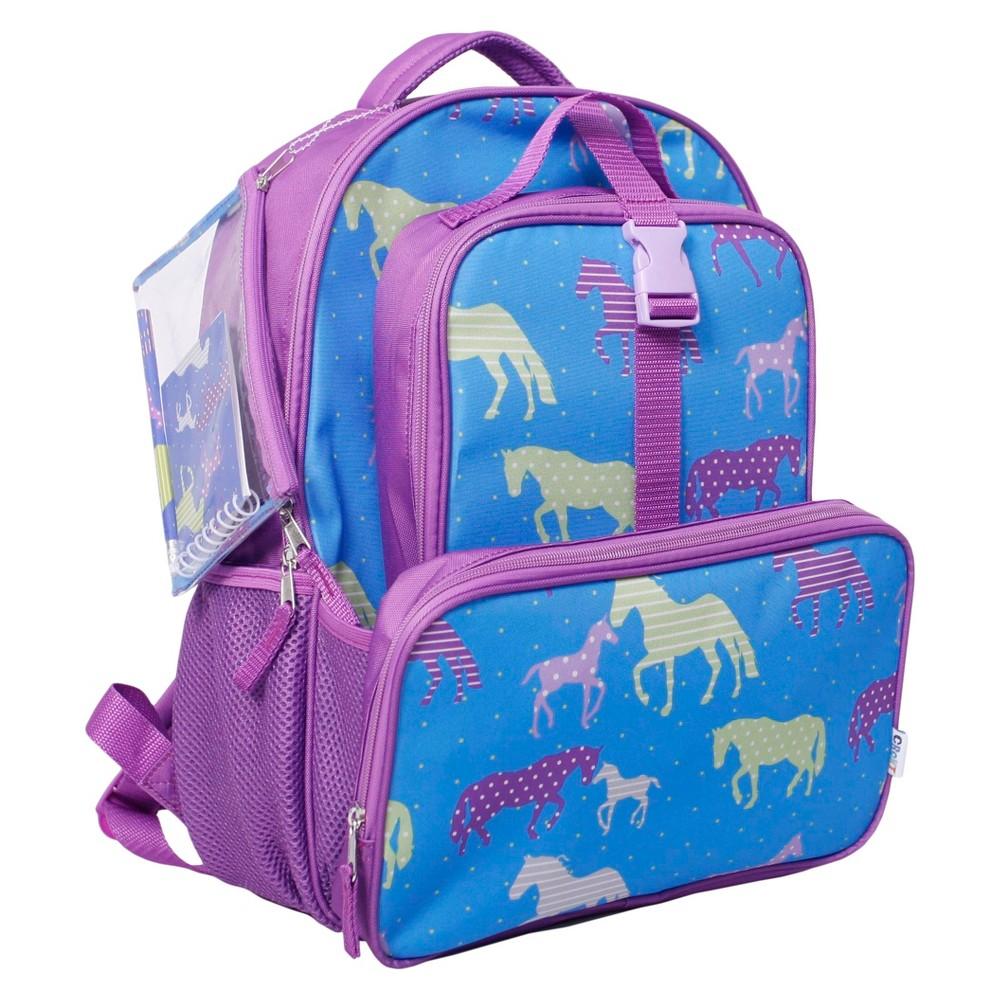 Crckt Backpack & Lunch Kit Combo Set - Horse, Purple
