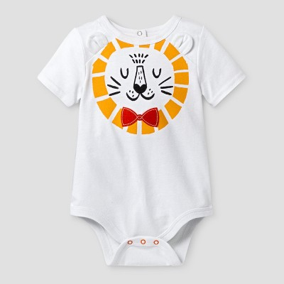 Baby Boys' Lion Bodysuit - Cat & Jack™ White 6-9 Months