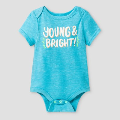 Baby Boys' Young and Bright Bodysuit - Cat & Jack™ Turquoise 3-6 Months